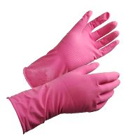 Household glove, Shield GR01 Latex, Pink, Size 8 / M