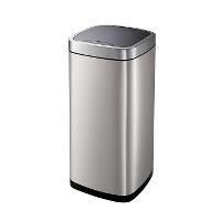 WeCare® Garbage can w/sensor lid, stainles steel, 35 L