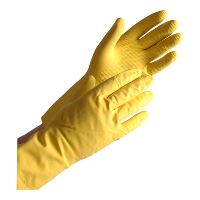 Household glove, Shield GR01 Latex, Yellow, Size 8 / M