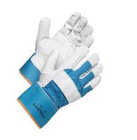 Worksafe ox-leather glove, H20-432, 9, blue