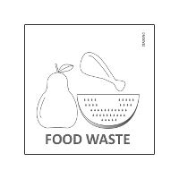 Etiket Food Waste for Waste sorting