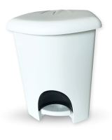 garbage can 6ltr. white