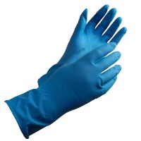 Household glove, Shield GR01 Latex, Blue, Size 8 / M