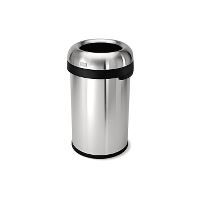 Garbage can, stainles steel, round, 60 L