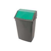 Waste system, 1 bucket, green lid.