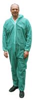 Worksafe single-use suit, PP coverall, XL, green