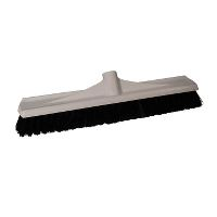 Dan-Mop® Broom w/thread, white plastic, 45 cm