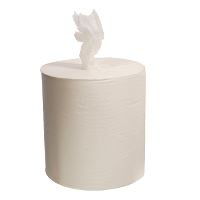 WeCare® Centerpull Towels, without core, 1-layer, white, 300 m