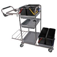 Dan-Mop® cleaning trolley midi 4 unassembled