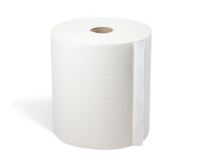 WeCare® Centerpull towels w/ core , 1ply, white, 250 m