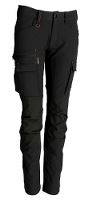 Worksafe Women Servicepants 4 way stretch, black, C48
