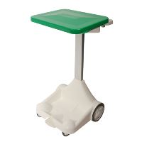 Waste system w/pedal/lid, green, 100/120 L