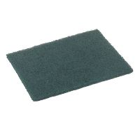 Green-Tex® Abrasive fiber pad, green, pack of 10