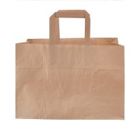 Carrying bag, paper, 17l, brown, 35x17x24cm