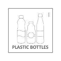 Etiket Plastic Bottles for Waste sorting
