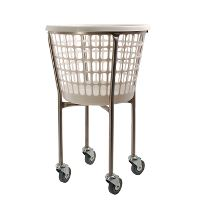 Laundry trolley, stainless, 32 L