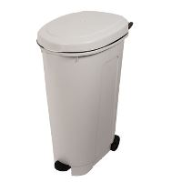 Waste container on wheels, white, 95 L