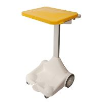 Waste system w/pedal/lid, yellow, 100/120 L