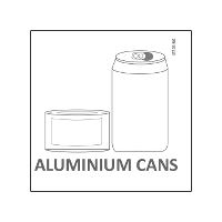 Etiket Aluminium Cans for Waste sorting