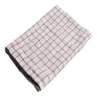 Kitchen Towel, red-chequered, 50 x 100 cm