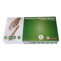 WeCare® Acc.free, Single-use glove, nitril, powderfree, white, 9/L