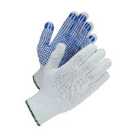 WeCare® PVC-dotted work glove, white/blue, size 7/S