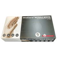 WeCare® Acc.free, Single-use glove, nitril, powderfree, white, 10/XL