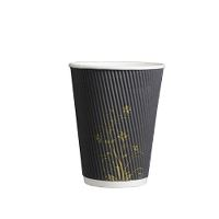 Gastrolux® coffee cup, Ripple Wall, grey w/dekor, 30 cl